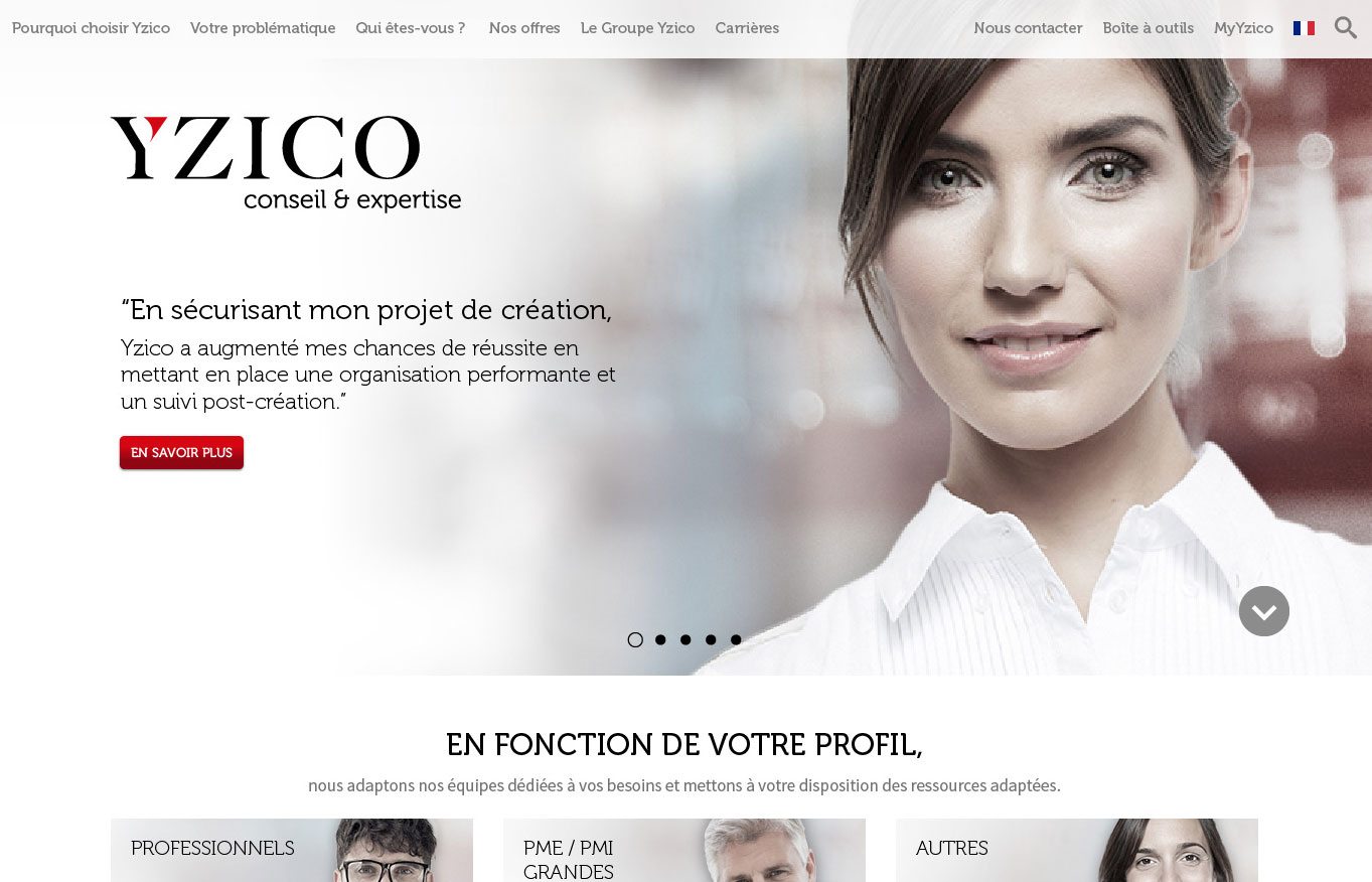 Digital Initiative - Yzico - site internet