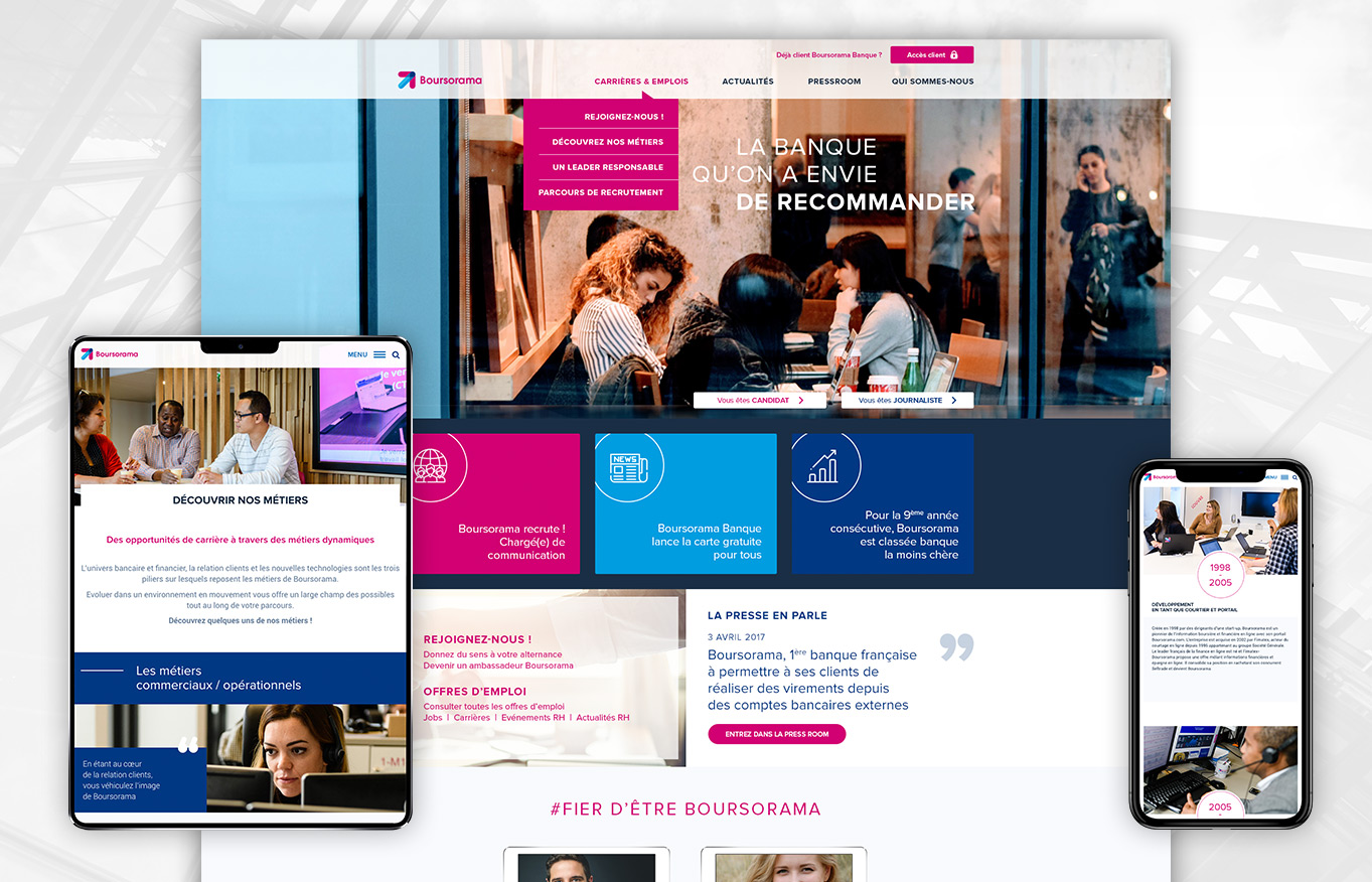 Digital Initiative - Boursorama - site corporate